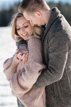 Verlobungsshooting im Winter in Salzburg