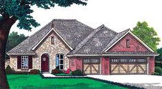 House Plan 66221   Plan with 2165 Sq. Ft., 4 Bedrooms, 3 Bathrooms, 3 Car Garage