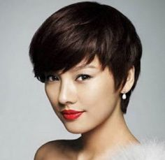 Short Asia Womens Hairstyles for Round Faces