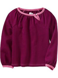 For the toddlers in the family, a cute long sleeve for the girls