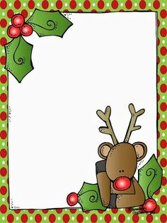 MelonHeadz: A blank Rudolph letter form for Santa! Christmas Frames, Christmas Paper, Christmas Pictures, Christmas Letters, Xmas, Merry Christmas, Christmas Stationery, Christmas Invitations, Preschool Christmas
