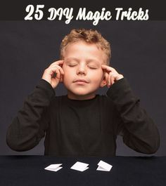 25 DIY Magic Tricks, like magically pushing a dime through a ballon or reading your friend's mind (via Family Fun). pin now, read later Magic Theme, Magic Party, Magic Tricks For Kids, Mind Reading Tricks, Magic Birthday, Birthday Deals, Card Tricks, Craft Activities, The Magicians