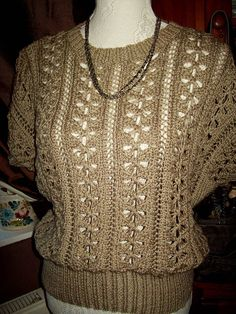 f6d479bfee301b A ladies beige jumper. Beige JumpersSummer TopsHand KnittingSummer Tank ...