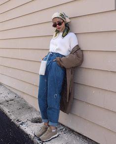 Modern Hijab Fashion, Street Hijab Fashion, Modesty Fashion, Muslim Fashion, Modest Casual Outfits, Indie Outfits, Trendy Outfits, Niqab, Ootd