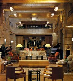Arizona Biltmore Hotel...  Nice arrangement in an Oversized Area...I believe that COLOR has been used to Furnish the Space, just as we've done with our Great Room...