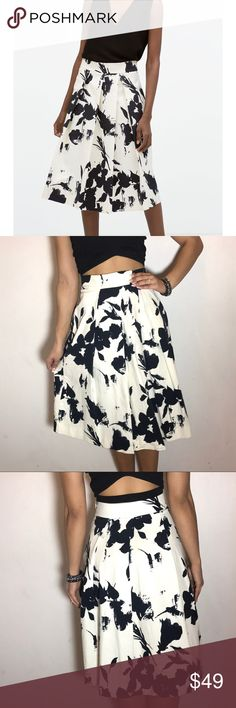 ZARA Floral Pleated Skirt Zara Floral Pleated Skirt. -Size S -Side zip. -Excellent condition!  NO Trades. Please make all offers through offer button. Zara Skirts