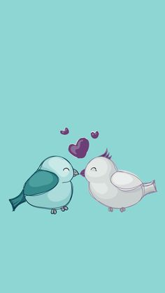 Love birds. The season of love. Tap to see more Valentine's Love iPhone & Android wallpapers, backgrounds, fondos! - @mobile9