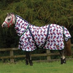 Cottage Craft Pony Fly Mesh Rug Made From Soft Polyester And Featuring Gussets Surcingles Anti Rub Satin Chest Lining Tail Flap