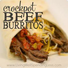 Crockpot Beef Burritos!