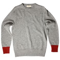 Universal Works Light Wool Crew Knit / Grey Marl