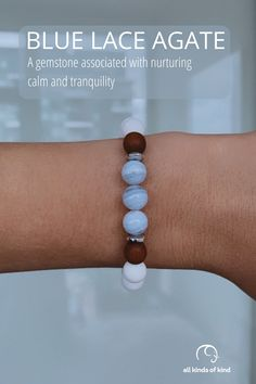 Associated with stress relief, Blue Lace Agate is thought to hold calming properites. A gemstone for those with anxities around public speaking. Blue Lace Agate, Public Speaking, Allergy Free, Agate Gemstone, Sea Foam, Stress Relief, Calming, Allergies, Beaded Bracelets