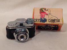 Vintage Crystar Mini Camera [In Box] #Crystar (why is that girl making out with a duck?)