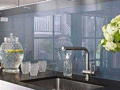 When looking at design and function of the kitchen, the backsplash creates a focal point that you can decorate to your heart's delight. Decor, Appliances, Backsplash, Home Decor, Kitchen, Splash, Kitchen Appliances, Sink