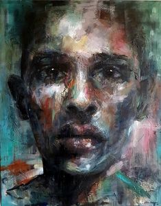 Art by Lone Malmgren Acrylic Portrait Painting, Lonely, Original Paintings, Canvas, Acrylics, Deep, Colorful, Art, Instagram