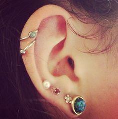 This kinda makes me wanna get two hoops instead of a hoop and a stud. hmmm