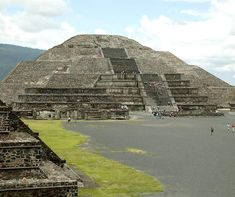"""Pyramid of the Moon located at Teotihuacan (in Aztec language """"city of the gods"""")"""