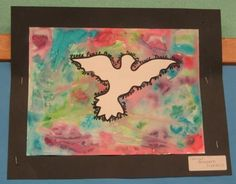 """""""Peace Doves"""" Watercolor Art Project for Kids"""