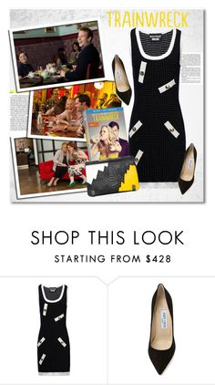 Pick up the trainwreck by vkmd on Polyvore featuring Boutique Moschino, Jimmy Choo and trainwreck