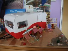 Retro caravan 1:12 scale by Margaret Redfern
