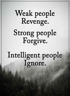 Weak people revenge..