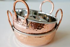 Image of Copper dish with handles
