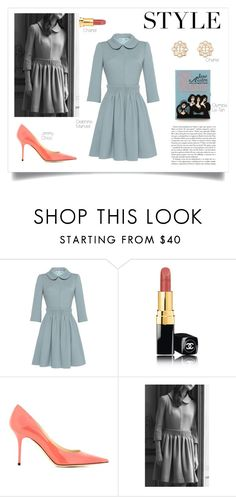 """Untitled #923"" by livnd ❤ liked on Polyvore featuring Delphine Manivet, Chanel, Jimmy Choo and Olympia Le-Tan"