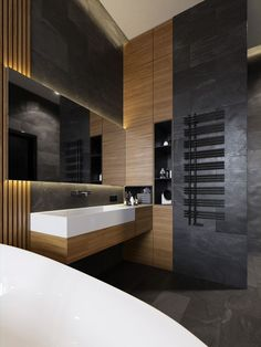 Choose the Latest Modern Sink Collection of the Highest Quality for Your Home's Main Bathroom - Home of Pondo - Home Design - Bathroom Ideas Bathroom Wall Decor, Bathroom Interior Design, Modern Interior Design, Interior Architecture, Bathroom Ideas, Bathroom Pictures, Bathroom Remodeling, Remodeling Ideas, Bathroom Goals