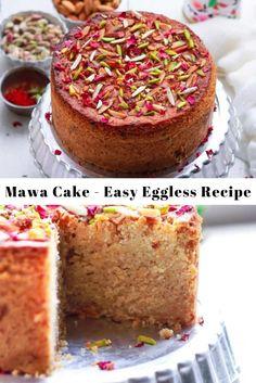 Eggless Desserts, Eggless Recipes, Eggless Baking, Coconut Desserts, Indian Cake, Indian Theme, Indian Sweets, Homemade Sweets, Homemade Cake Recipes