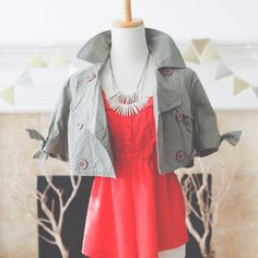 Cropped Olive Green Jacket