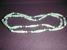 26 1/2 one of a kind paper and glass bead necklace by DandDsJewels, $10.00