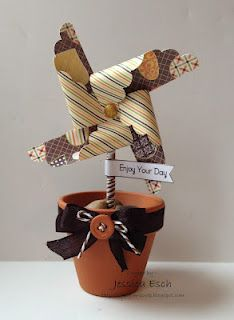 Fun with Pinwheels~ The Cutting Cafe Pinwheel Sentiment Template, 3 Girl Jam Crinkle ribbon and Trendy Twine