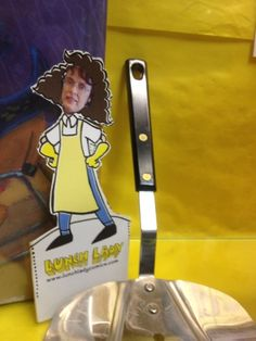 Motts Road School outside of Syracuse put their lunch ladies' faces on the Lunch Lady character for a display case!