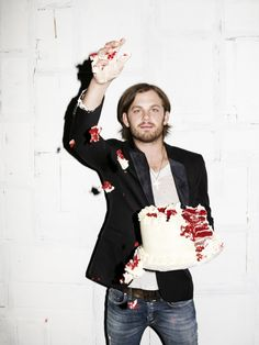 Caleb AND cake?! Come on!!