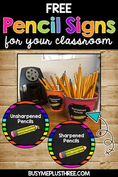 Are you looking for some cute sharpened and unsharpened pencil signs? These bright neon and chalkboar signs are perfect for any classroom! They include 2 sizes and also signs that say sharp pencils and dull pencils. Grab them today for FREE! Neon Classroom Decor, Chalkboard Classroom, Classroom Calendar, Classroom Hacks, Kindergarten Classroom, Classroom Organization, Classroom Management, Sharp Pencils, Bright Decor