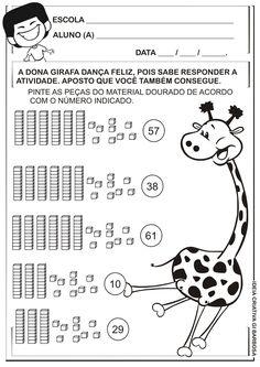 Matemática Infantil: Atividade Material Dourado Dezena e Unidade Galinha Pintadinha
