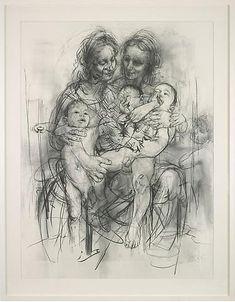 Reproduction drawing IV (after the Leonardo cartoon), 2010   Jenny Saville