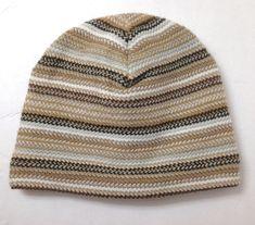 28ebe90de5a SOFT! OLD NAVY BEANIE tan brown white winter knit fleece-lined men women