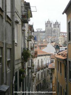 OPORTO: desde Rua do Ferraz, asoma  la Catedral de Oporto (La Sé)
