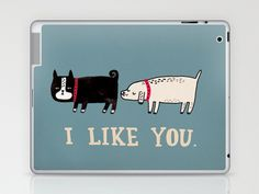I Like You. Laptop & iPad Skin by Gemma Correll - $25.00