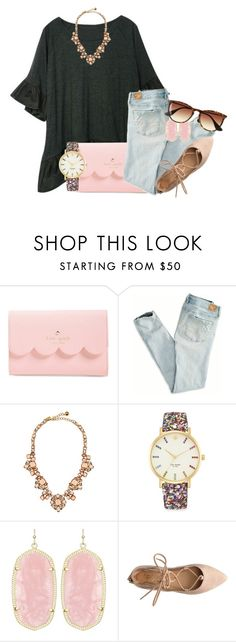 """""""wishes & dreams of wearing this outfit"""" by thefashionbyem ❤ liked on Polyvore featuring Kate Spade, American Eagle Outfitters, Kendra Scott, J.Crew, women's clothing, women, female, woman, misses and juniors"""