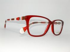 Óculos Grande Armação Acetato Feminino Tamanho 54 Vermelho