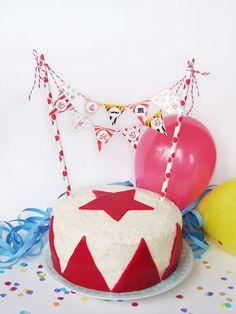 Kuchengirlande vom Inselmädchen #Party #Zirkus #Geburtstag