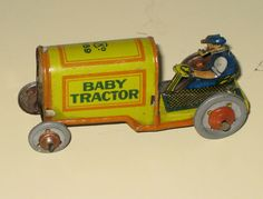 Antique tin toy tractor, ca. 1930