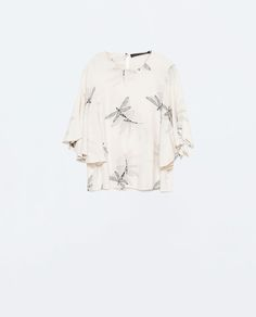ZARA - WOMAN - PRINTED TOP WITH CAPE SLEEVES