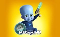 Baby Megamind with a gun wallpaper