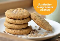 Along with some chopped up fruits and veggies, one of these cookies is a perfect school snack. Free of peanuts and tree nuts, loaded with protein-rich SunButter!