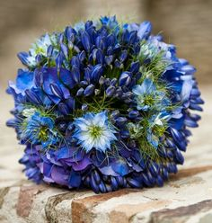 Heavenly Mist Bridal Bouquet - Heavenly Mist Bridal Bouquet > View Full-Size I... | Blue, Bouquet, Mist, Heavenly, Purchased |
