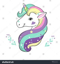 Find Unicorn Pop Art stock images in HD and millions of other royalty-free stock photos, illustrations and vectors in the Shutterstock collection. Unicorn Head, Cute Unicorn, Rainbow Unicorn, Arte Pop, Unicorn Painting, Unicorn Tattoos, Unicorn Fantasy, Unicorn Pictures, Unicorn Crafts