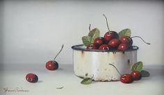 cherries in enamelware by Johannes Eerdmans Still Life Drawing, Painting Still Life, Still Life Art, Decoupage Vintage, Stella Art, Sweetest Devotion, Fruit Painting, Fruit Art, Art Google