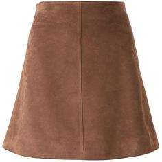 Saint Laurent high waist skirt (£1,145) ❤ liked on Polyvore